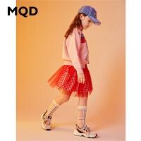 MQD童装女童加厚毛衣2019冬季新款儿童高领针织衫潮