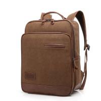 双肩包防水帆布包韩版大中学生书包休闲包电脑包旅行包