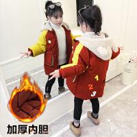 女童中长款洋气童装加厚棉袄外套2019冬季新款韩版儿童棉衣