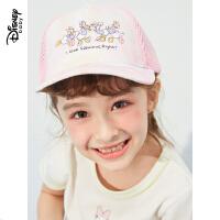 超品日【2件4折】迪士尼女童夏季防晒鸭舌帽2021新款儿童夏季遮阳帽女宝宝帽子