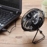 迷你小电风扇静音宿舍床上学生电扇电脑桌面办公室抖音 4寸 黑
