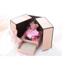 小熊玫瑰永生花礼盒杨帆同款生日礼物创意 情人节送女友真花