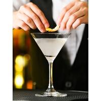 马天尼鸡尾酒三角杯玻璃酒杯水晶高脚杯香槟酒吧杯杯子古典小容量 普通玻璃款 120ml/4oz