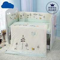 婴儿床床围防撞围婴儿四季通用五件套宝宝床上用品套件MYZQ02