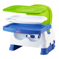 费雪 宝宝小餐椅多功能带托盘靠背便携儿童餐椅家用座椅 白绿蓝