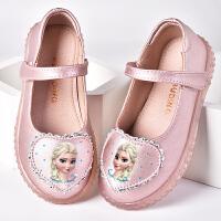 童鞋女童公主鞋夏季真皮儿童包头凉鞋小女孩皮鞋豆豆鞋女