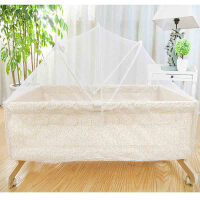 儿宝宝摇篮床自动婴儿床摇摇床实木环保好孩子 白色