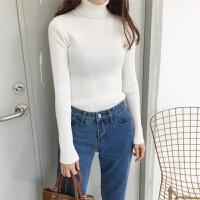 高领毛衣女针织衫加厚2018秋冬季新款修身上衣色长袖百搭打底衫
