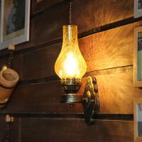 中式壁灯老油灯过道酒吧灯创意复古咖啡厅餐厅卧室铁艺壁灯