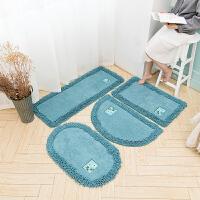 【优选】卫生间吸水地垫门垫进门门口卫浴脚垫家用厕所浴室防滑垫卧室地毯 60*90cm 【椭圆】 【送】