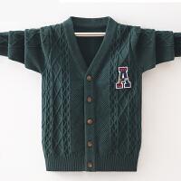 秋季中大童V领套头儿童线衣10-15岁男童开衫毛衣男孩子针织衫外套