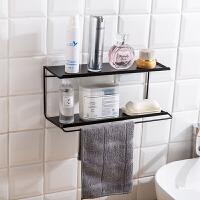 卫生间双层置物架免打孔铁艺浴室洗漱用品收纳架沥水架洗漱架