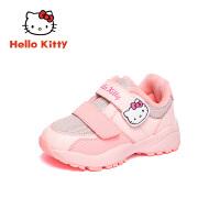【4折价:111.6元】HelloKitty凯蒂猫童鞋女童二棉鞋2019冬季新款女孩加绒保暖运动鞋K9543002