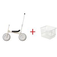 儿童车三轮脚踏车日本儿童三轮车宝宝脚踏车小孩自行车简约推杆手推童车1-3岁QL-57