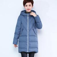 中年女冬装外套40-50岁婆婆棉衣新款妈妈冬季加厚中长款羽绒