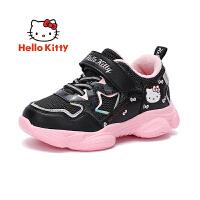 【到手价:109元】hellokitty凯蒂猫童鞋女童运动鞋加绒2019冬季新款女孩保暖二棉鞋休闲鞋K9546817