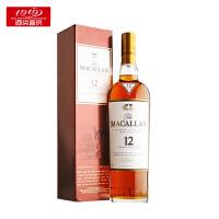 【1919酒类直供】洋酒麦卡伦12年单一麦芽苏格兰威士忌英国进口洋酒