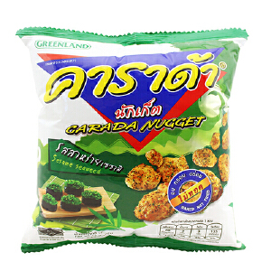 泰国进口 卡啦哒 Carada 加油啦海苔米球(膨化食品)17g