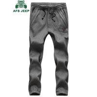 战地吉普AFS JEEP 男士休闲裤运动裤 加绒裤卫裤长裤哈伦裤潮男裤子