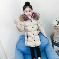 女童棉服2018新款洋气女孩冬装韩版中大童儿童外套中长款棉衣加厚