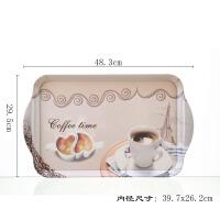 加厚密胺家用长方形托盘 创意欧式茶盘水果盘放水杯托盘塑料盘子
