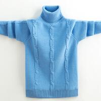秋冬季棉线衣中大童新款加厚针织衫高领保暖打底衫男童加绒毛衣