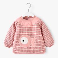 2018冬季新款加厚男女宝宝棉袄外套婴幼儿童夹棉吃饭反穿罩衣MYZQ38