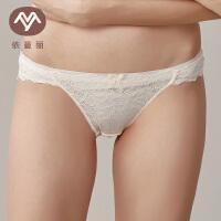 依曼丽低腰内裤女 夏性感蕾丝超薄火辣舒适透气提臀三角女士内裤