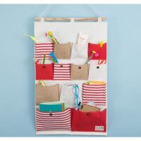 【好货】布艺挂墙上置物袋储物挂兜 门后可悬挂式收纳布袋多层墙面壁挂袋 送新版挂钩