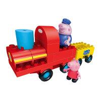 玩具大颗粒积木儿童玩具猪爷爷火车生日礼物女孩 邦宝积木猪爷爷的火车6033