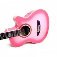 支持货到付款 Strinberg 入门初学吉他 性价比 木吉他 民谣吉他 缺角吉他( 粉色 ) SC-20C(送防雨背