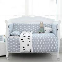 婴儿床上用品定做套件北欧云朵春夏宝宝床品全新生儿夏天床围ZQ-YS015