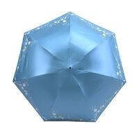 黑胶铅笔伞太阳伞折叠伞遮阳伞迷你女太阳晴雨伞两用抖音