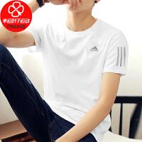 Adidas/阿迪达斯男装T恤新款运动服跑步训练健身上衣圆领透气篮球半袖短袖EK2855
