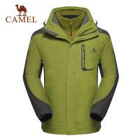 camel骆驼户外冲锋衣 秋冬 男款 两件套防风保暖 冲锋衣