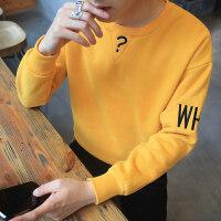 2018冬季新款男士长袖T恤男装加绒加厚韩版秋冬卫衣打底衫衣服潮