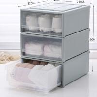 透明内衣收纳盒塑料衣柜抽屉式分隔家用内裤袜子文胸内衣裤整理箱