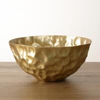 黄铜干果盘餐具 装饰碗花器 花盆创意美式家居装饰摆件