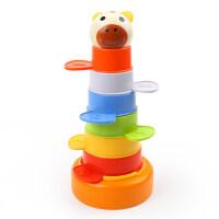 彩虹圈套杯宝宝早教叠叠乐玩具儿童戏水洗澡婴儿力玩具 动物套杯叠叠乐