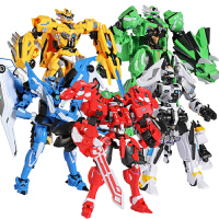 钢铁飞龙2变形玩具金刚5奥特曼恐龙机器人手表召唤器男孩儿童 钢铁飞龙机械兽5只装 赠5个奥特曼人偶
