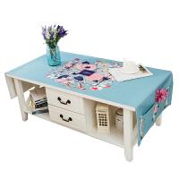 桌布 简约现代棉麻茶几桌布 长方形客厅布艺餐桌布垫台布电视柜盖巾