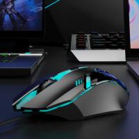鼠标有线静音无声USB家用办公台式机笔记本电脑网吧游戏机械电竞通用