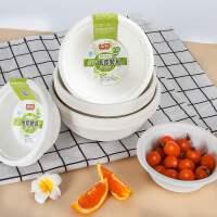 一次性碗纸碗筷餐具餐盒家用加厚圆形环保商用整箱套装碟盘子纸盘