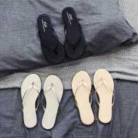 限时特价网红沙滩凉拖鞋女夏外穿简约海边夹脚皮时尚人字拖平底跟防滑百搭