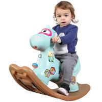儿童木马摇摇马塑料带音乐婴儿玩具一周岁宝宝生日礼物1-3岁两用女孩玩具男孩
