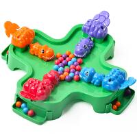 青蛙吃豆玩具小乖蛋青蛙吃豆玩具恐龙游戏 儿童益智桌游子互动男孩桌面抢珠 吃豆游戏【4人版】