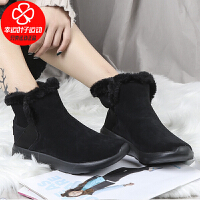 Skechers/斯凯奇女鞋新款时尚户外休闲运动鞋舒适保暖雪地靴短靴14635-BBK