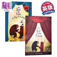 【中商原版】David Litchfield熊与钢琴系列2册 英文原版 The Bear and the Piano