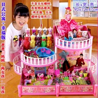 芭比公主玩具大套�b房子 娃娃套�b大�Y盒公主女孩玩具芭比席妮