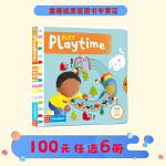 Busy Playtime 系列纸板书 英文原版绘本0 3 6岁 繁忙的课外时光 纸板 机关 操作活动书 幼儿启蒙学习